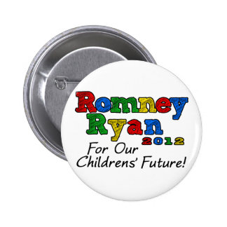 Romney/Ryan 2012, For our Childrens' Future 2 Inch Round Button