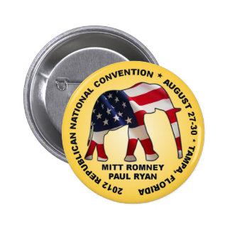 Romney Ryan 2012 GOP Convention 2 Inch Round Button