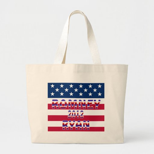 Romney Ryan 2012 Presidential Election Tote Bags
