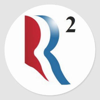"Romney & Ryan 2012 - ""R squared"" Round Sticker"