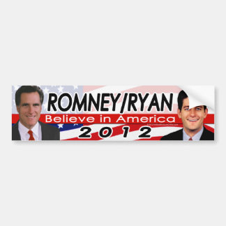 Romney/Ryan 2012 Republican Presidential Election Bumper Sticker