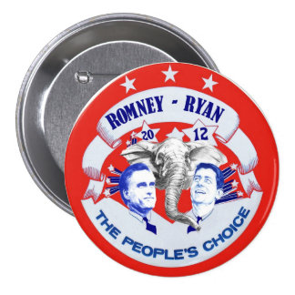 Romney - Ryan 2012 The People's Choice 3 Inch Round Button
