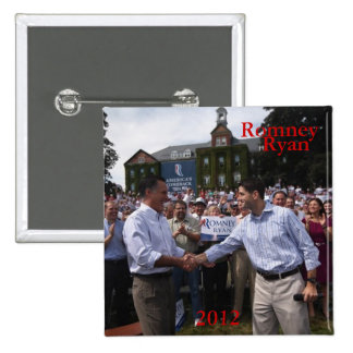 Romney - Ryan 2 Inch Square Button