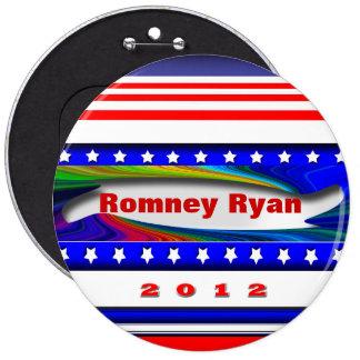 Romney Ryan 6 Inch Round Button