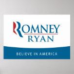 Romney Ryan Believe in America Poster