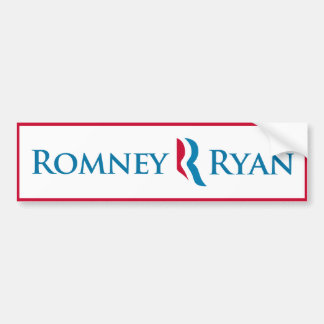 Romney Ryan Bumper Sticker (White)