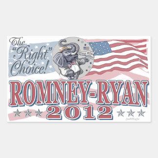 Romney Ryan Elephant Sticker
