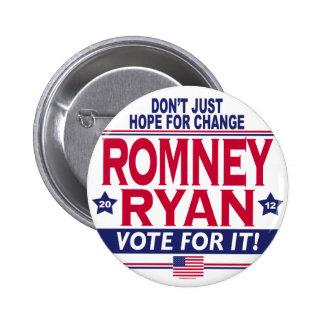 Romney Ryan Hope Change 2 Inch Round Button