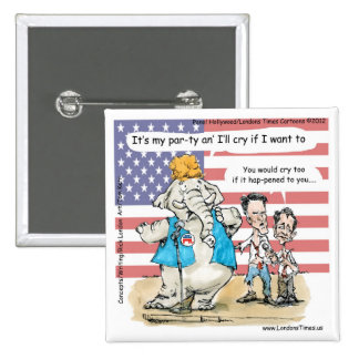 Romney & Ryan Its My Party Funny Gifts & Cards 2 Inch Square Button