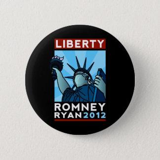 Romney Ryan Liberty 2 Inch Round Button