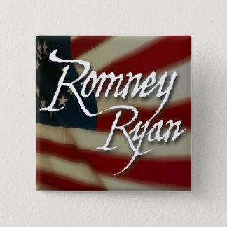 Romney Ryan, No Apologies 2 Inch Square Button