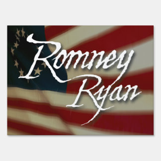 Romney Ryan, No Apologies, Medium Yard Sign