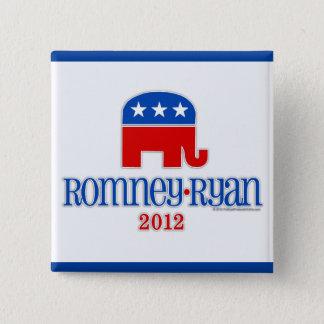 Romney/Ryan Patriot Elephant 2 Inch Square Button