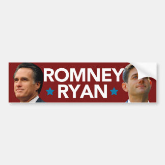 Romney Ryan Portrait Bumper Sticker
