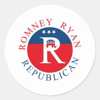 Romney Ryan Republican - 3R's Classic Round Sticker