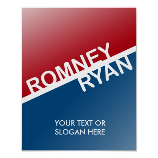 ROMNEY RYAN RETRO BLOCK.png Print