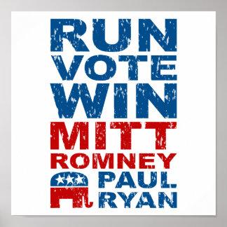 Romney Ryan Run Vote Win Poster