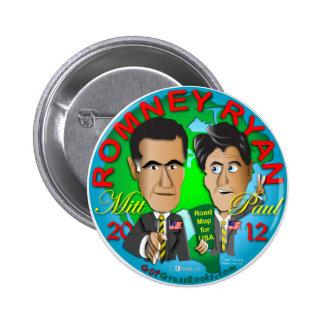 Romney Ryan USA 2 Inch Round Button