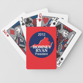 Romney Ryan VIRGINIA Bicycle Playing Cards