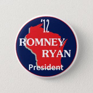 Romney Ryan WISCONSIN 2 Inch Round Button