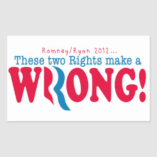 Romney Ryan Wrong Sticker