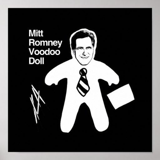 Romney Voodoo Doll.png Print