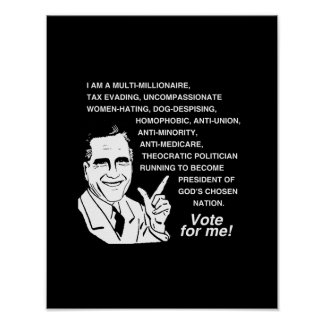 Romney Vote for Me png Posters