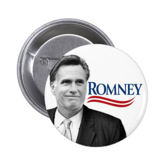 Romney with black and white photo 2 inch round button