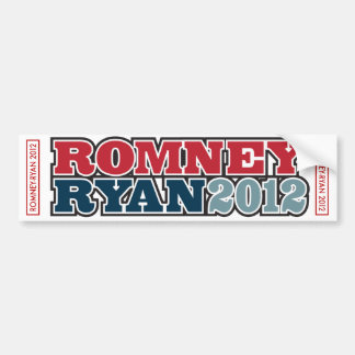 RomneyRyan2012 Bumper Sticker White