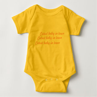 Romper Cutest baby in town yellow