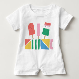 Romper with Popsicles Summer Baby Fun