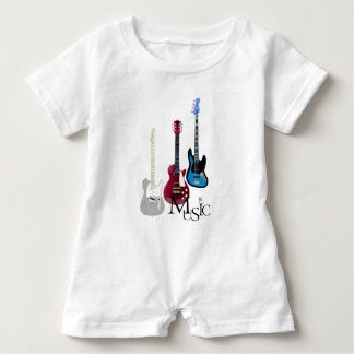 """Rompers """"Guitars and music """""""