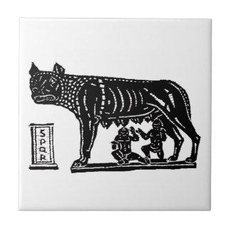 Romulus and Remus Roman Mythology Tile