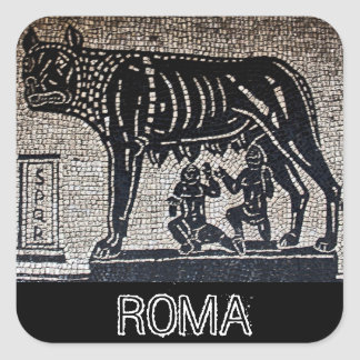 Romulus & Remus Square Sticker