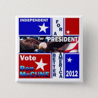 Ron McCune for President 2012 2 Inch Square Button