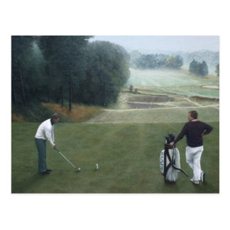 Ron McGill Golfing Oil Painting 1 Postcard