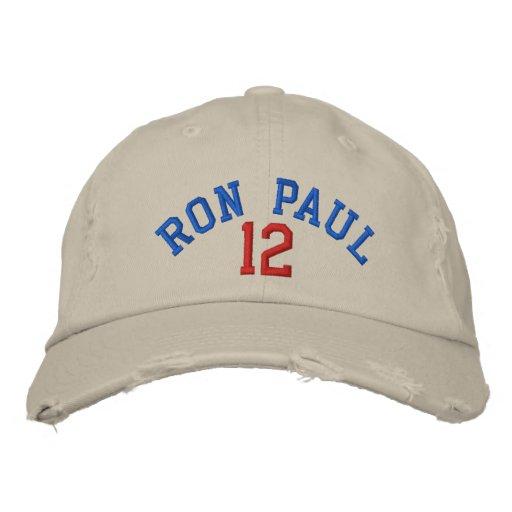 RON PAUL '12 Distressed Chino Twill Cap Baseball Cap