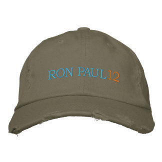 RON PAUL 12 Ladies (Distressed Chino Twill) Cap Embroidered Baseball Cap