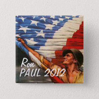 Ron Paul 2012 2 Inch Square Button