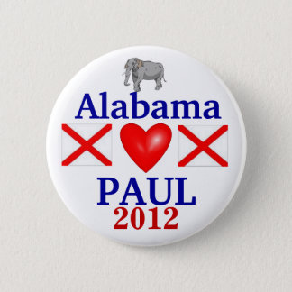 Ron Paul 2012 Alabama 2 Inch Round Button