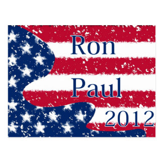 Ron Paul 2012 Altered US Flag Postcard