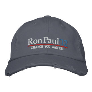 Ron Paul 2012 Customizable Embroidered Hats