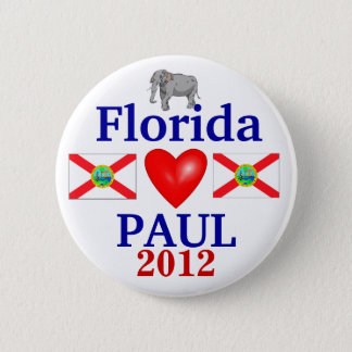 Ron Paul 2012 Florida 2 Inch Round Button