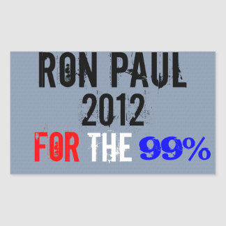 Ron Paul 2012, For The 99% Sticker