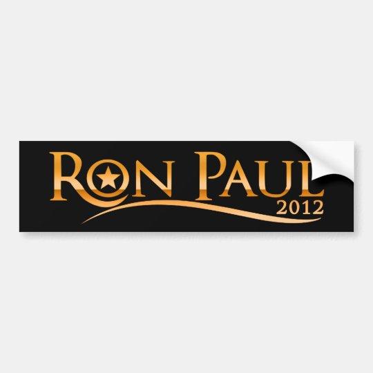 Ron Paul 2012 (Golden) Bumper Sticker