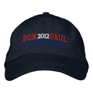 RON PAUL 2012 IN GOD WE TRUST Ladies Cap Embroidered Baseball Cap