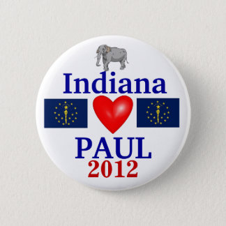 Ron Paul 2012 Indiana 2 Inch Round Button