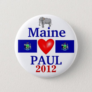Ron Paul 2012 Maine 2 Inch Round Button