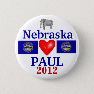Ron Paul 2012 Nebraska 2 Inch Round Button