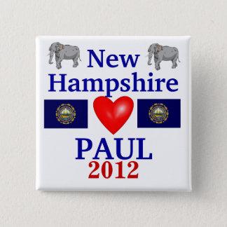 Ron Paul 2012 New Hampshire 2 Inch Square Button